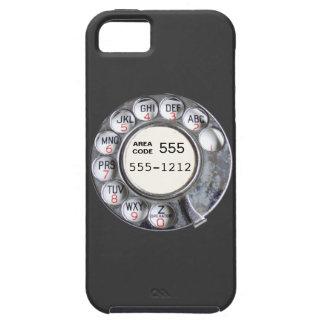 Dial rotatorio del teléfono con número de teléfono iPhone 5 carcasas
