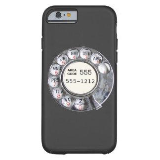 Dial rotatorio del teléfono con número de teléfono funda de iPhone 6 tough