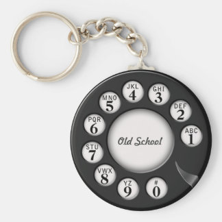 Dial rotatorio del teléfono de la escuela vieja llaveros