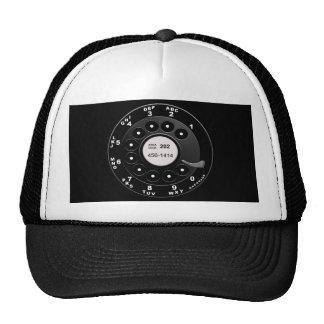 Dial rotatorio del teléfono gorra