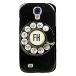 Dial rotatorio llevado viejo del teléfono de la ba