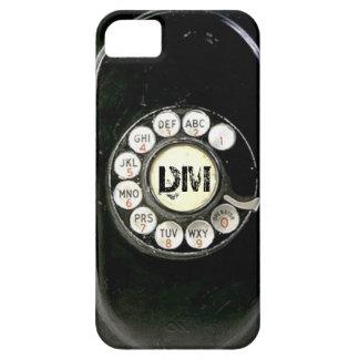 Dial rotatorio llevado viejo del teléfono de la ba iPhone 5 Case-Mate protectores