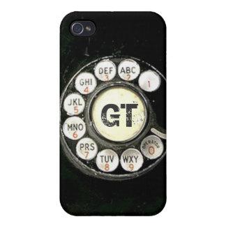 Dial rotatorio llevado viejo del teléfono de la ba iPhone 4/4S carcasa