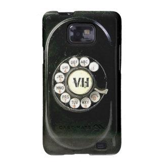 Dial rotatorio llevado viejo del teléfono de la galaxy SII fundas