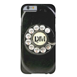 Dial rotatorio llevado viejo del teléfono de la funda de iPhone 6 barely there