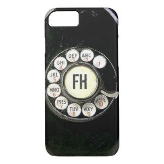 Dial rotatorio llevado viejo del teléfono de la funda iPhone 7