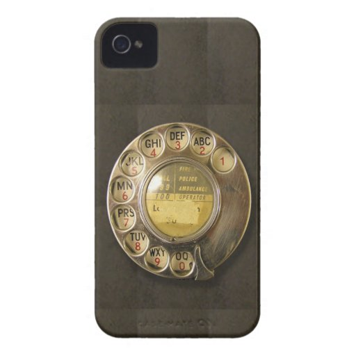 Dial rotatorio retro del teléfono Case-Mate iPhone 4 fundas