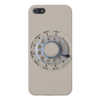 Dial rotatorio retro del teléfono iPhone 5 funda