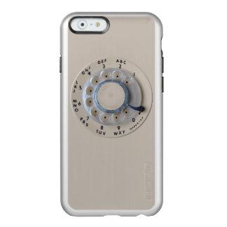Dial rotatorio retro del teléfono funda para iPhone 6 plus incipio feather shine
