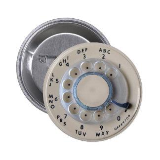 Dial rotatorio retro del teléfono pins