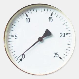 Dial Sickers del indicador de presión del vapor Etiqueta Redonda