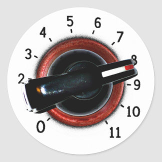 Dial To Eleven Classic Round Sticker