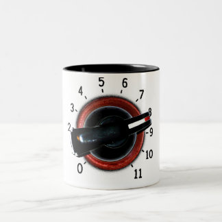Dial To Eleven Two-Tone Coffee Mug