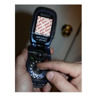 Dial-up Cellular Retro-Phone Photo Frame Postcard