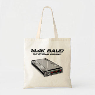 Dial Up Dubstep Old School Modem Tote Bags
