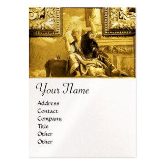 DIALÉCTICA, amarillo del oro, papel blanco de la p Tarjetas De Visita