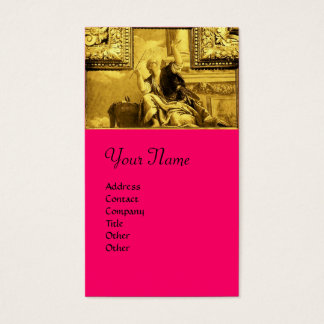 DIALECTICS ALLEGORY Gold Yellow,Pink,Fuchsia Business Card
