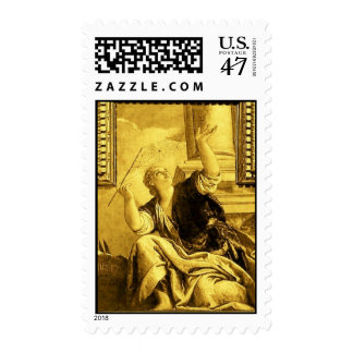 DIALECTICS ,detail gold yellow brown Postage Stamp