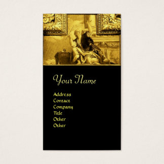DIALECTICS ,gold yellow,black Business Card