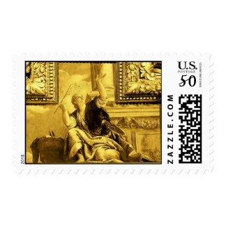 DIALECTICS , gold yellow brown Postage