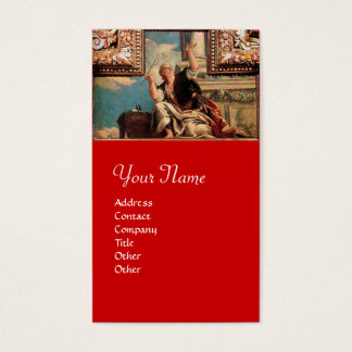 DIALECTICS / Renaissance Allegory, Red Business Card