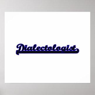 Dialectologist Classic Job Design Poster