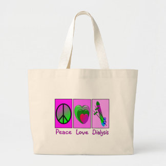 Diálisis del amor de la paz bolsa de mano