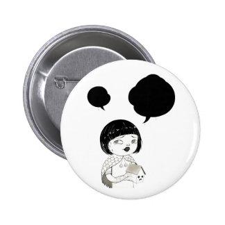 """Dialog 01"" Yan Wei | 闫威 Pinback Button"