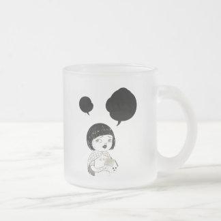 """Dialog 01"" Yan Wei | 闫威 Frosted Glass Coffee Mug"