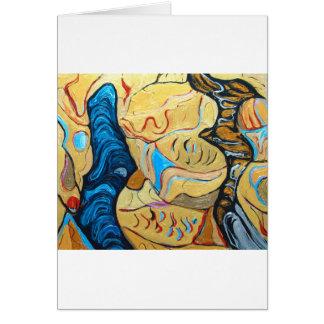 Diálogo torcido (expresionismo metálico abstracto) tarjeta de felicitación