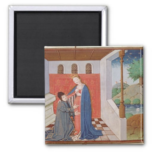 Dialogue between Boethius and Philosophy 2 Inch Square Magnet