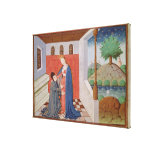 Dialogue between Boethius and Philosophy Canvas Print