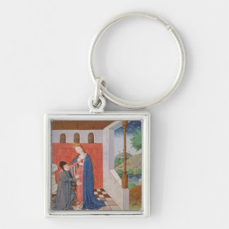 Dialogue between Boethius and Philosophy Keychain
