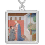 Dialogue between Boethius and Philosophy Square Pendant Necklace