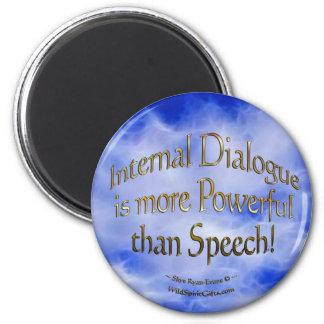"""""""Dialogue"""" Self-Improvement Motivational Magnet"""