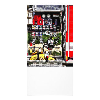 Dials and Hoses on Fire Truck Card
