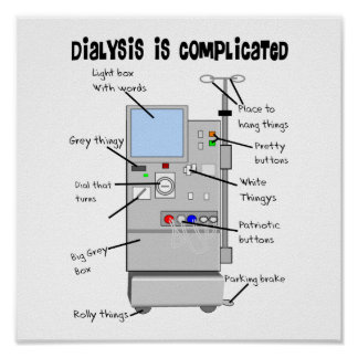 Dialysis Humor Gifts for Nurses, Techs, Patients Poster