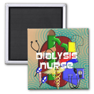 Dialysis Nurse Art Gifts 2 Inch Square Magnet