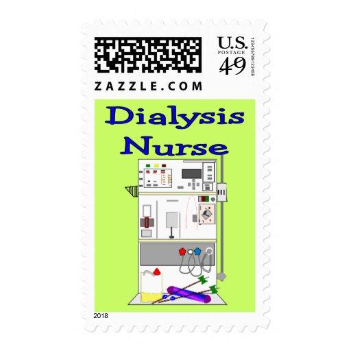 Dialysis Nurse Gifts-Unique Machine Design Postage Stamp
