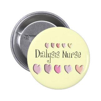 Dialysis Nurse Hearts Design Gifts 2 Inch Round Button