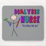 Dialysis Nurse Stick Person Design Mousepads