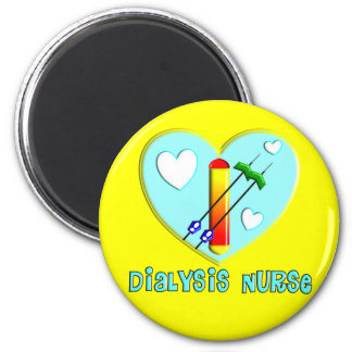 Dialysis Nurse T-Shirts and Gifts 2 Inch Round Magnet