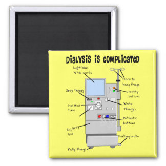 Dialysis Nurse/Tech Funny Gifts 2 Inch Square Magnet