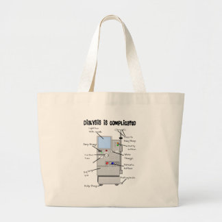Dialysis Nurse/Tech Funny Gifts Large Tote Bag
