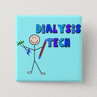 Dialysis Tech STICK MAN Design Button