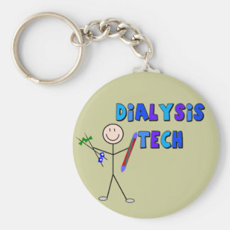 Dialysis Tech STICK MAN Design Keychain