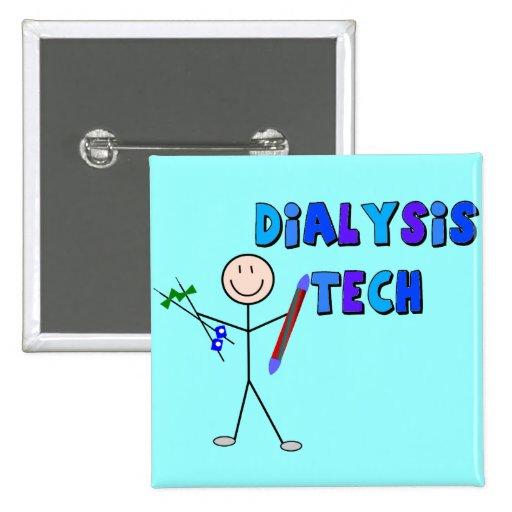 Dialysis Tech STICK MAN Design Pinback Buttons