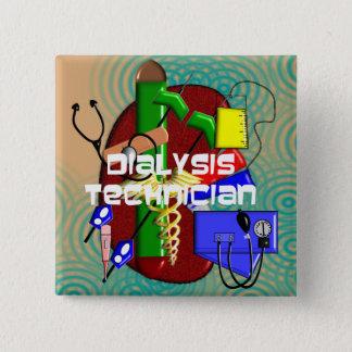 Dialysis Technician Art Gifts Button