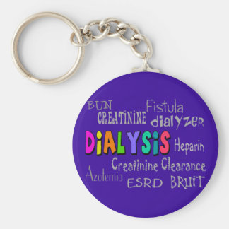 Dialysis Terminology Gifts Basic Round Button Keychain