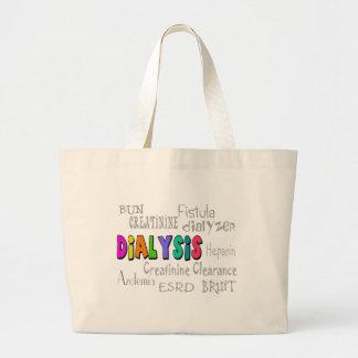 Dialysis Terminology Gifts Large Tote Bag